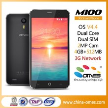 Middle Level Wholesale/OEM M100 3G WCDMA GSM android 5 inch dual core cellphone