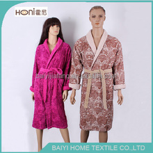 Supply 100% Cotton Cheap Price Terry Velour Shawl Collar Bathrobe or Sleepwear