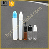 10ml 20ml 30ml Wholesale Empty Plastic Pet Pen Shape Pe Stainless Steel E-liquid Bottle With Cap For E Liquid