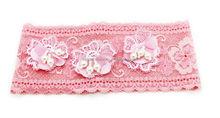 Wide lace baby crochet headband,hairwrap