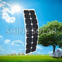 Custom 5v 12v 24v 36v 48v flexible solar panel 3-330w layout in size and voltage