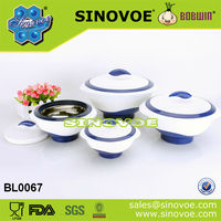 4ps set stainless steel inside Insulated Food bowl