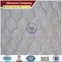 Zinc gabion basket/double twisted hexagonal woven steel wire mesh