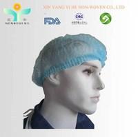 PP Nonwoven Disposable Surgical Cap / Nonwoven detectable hair net / nonwoven round cap