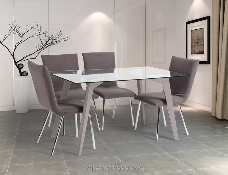 단단한 나무 다리 xs-1222 투명 강화 유리 식탁-테이블을 다이닝 ...