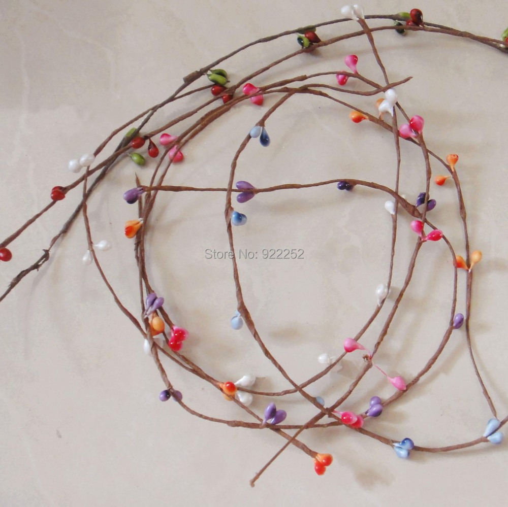 40cmartificial Rattan Canefloral Wire Dried Branches With Mini Eybschaller Megaswitch Quote Quot Wiring Diagramm Anyone Pear Budspip Berry Garland Accessoriesfloral Headhair Wreath Us704