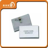 XHFJ-B-Badge64 square type metal OEM magnetic name pin badge
