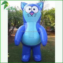 Hot Sale Funny Customized Advertising Inflatable Cartoon Cat Model
