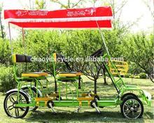 Plastic tandem bike aluminum frame made in China