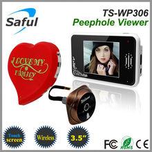 best 3.5 inch 2.4GHz Saful TS-WP306 Wireless digital door viewer, lcd peephole