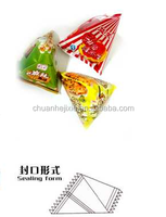 triangle bag packing machine for food with cheap price