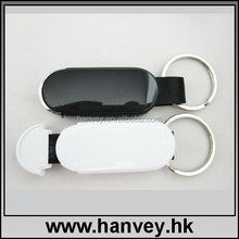 Custom leather usb flash drive/white leather usb