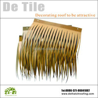 Aluminium artificial fire-proof synthetic thatch roofing tiles for decoration