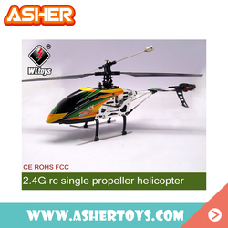 wltoys v912 2.4g 4ch single propell rc helicopter with ROHS
