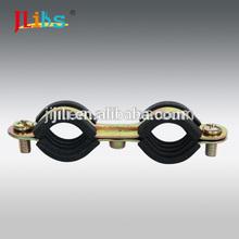 tubo de doble abrazaderas m7 con exterior de goma
