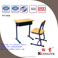 School furniture adjustable study desk and chair