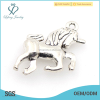 Cheap personalized custom made silver horse charm jewelry