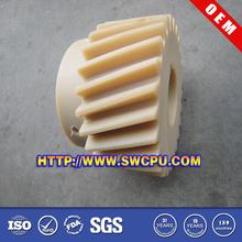 CNC machined plastic pinon & worm plastic bevel gears