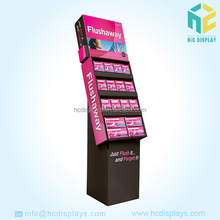 Large cardboard cell display stand for retail
