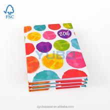 2016 custom cheap hardcover diary notebook