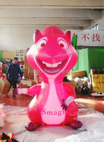 2015 customized pink giant inflatable squirrel