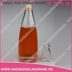 500ml hot sale new design wholesale wine glass bottle,vodka glass bottle with cup