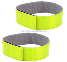 Premium Reflective Running Arm/Ankle Velcro Elastic Strap Pants Leg Band