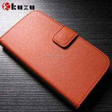 Genuine Leather Case for Samsung Galaxy Wallet Style Flip Stand Phone Bag Black 2015 New Arrival