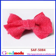 Pink Hair Bows Banana Comb Clip Barrette