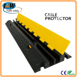 High Loading Capacity Cable 2 Channel Protector Rubber for Sale