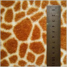 100%Polyester Animal Printed Coral Fleece fabric for shoes bathrobe