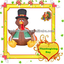 Thanksgiving Day inflatable turkey cartoon