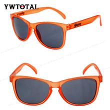 2014 fashion transparent orange frame sunglasses UV400 high quality glasses