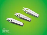 first aid tweezer stainless steel attractive price item No.AK348