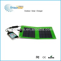 Outdoor solar charger for cell phone charging OS-OP052B can be hung in the bag with CE RoHS and FCC certificate