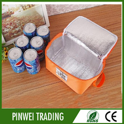 wholesale insulated beer bottle cooler bag, 6 can insulating effect wine cooler bag