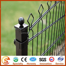 PVC coated galvanized steel fence square fence poles with attractive appearance