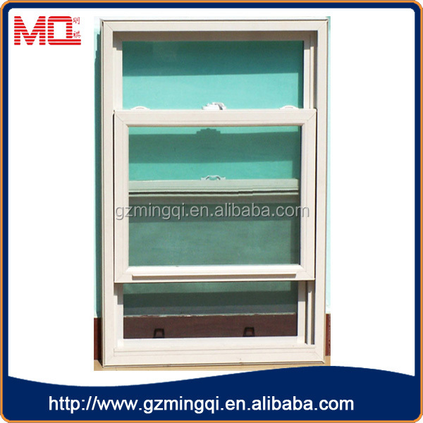 Best Selling Plastic Double Glass Double Hung Window For