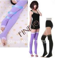 Leggings Sleep socks Pressing Germa Sleeping Beauty Leg Slim slimming socks stockings black purple 7224