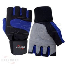 Wrist Wrap Gel Grip Leather Weight Lifting Gloves