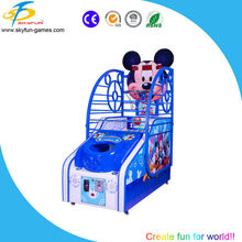 Mikey children basketball coin operated electronic basketball scoring machine
