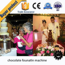 new type 2 Tiers rotatable surround lead desk for chocolate fountain for export