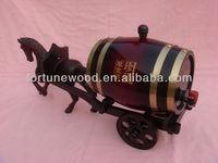 1.5L wood carving horse carrier barrel craft