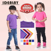 child plain combed cotton t-shirt for printing