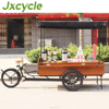 water proof wooden box outdoor coffee tricycle