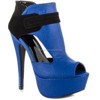 2015 JUSITY Wholesale Royal Blue High Heels Lady Leather Shoe Platform Shoes Women