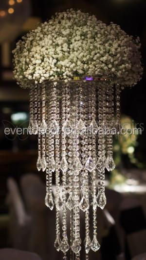Hot sale large crystal chandelier wedding centerpieces