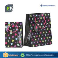 Foldable Recycle Art Paper Shopper Bag