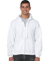 Cheap Custom China Manufacture Men's Blank White Zip Hoodie