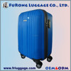 Personalized luggage sets with 4 wheels/Blue travel luggage with aluminum trolley/Factory price